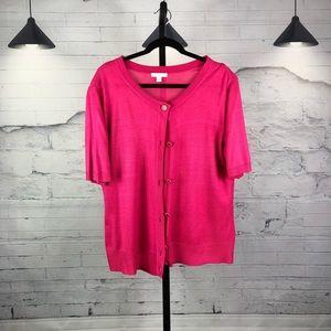 New York & Company Short Sleeve Sweater 1054